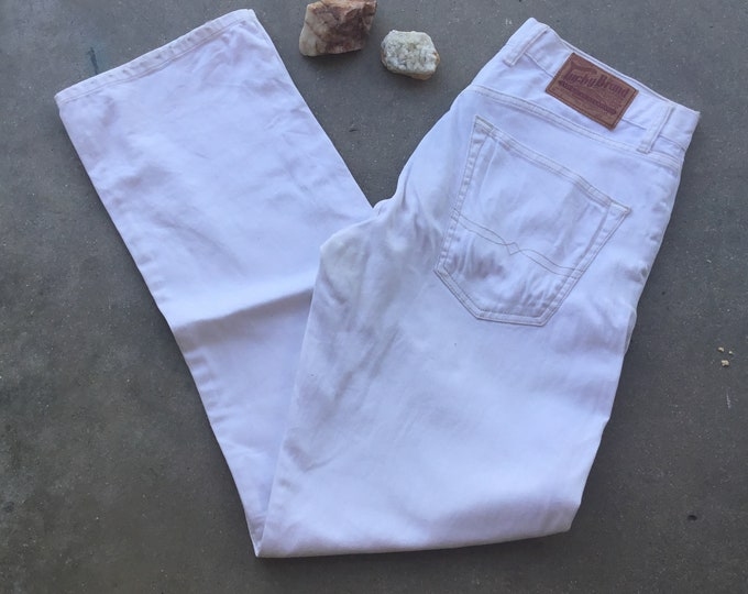 Men's Lucky Brand White Jeans, Like New. Size 32 x 32. Free Priority Mail Shipping in the USA
