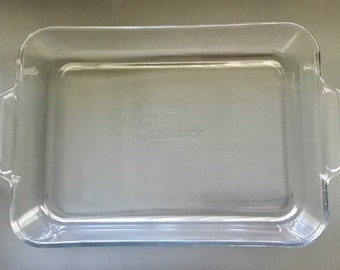 Vintage 1980s Large 4qt Pyrex rectangular bakers casserole dish 234r Great Condition. Free Shipping
