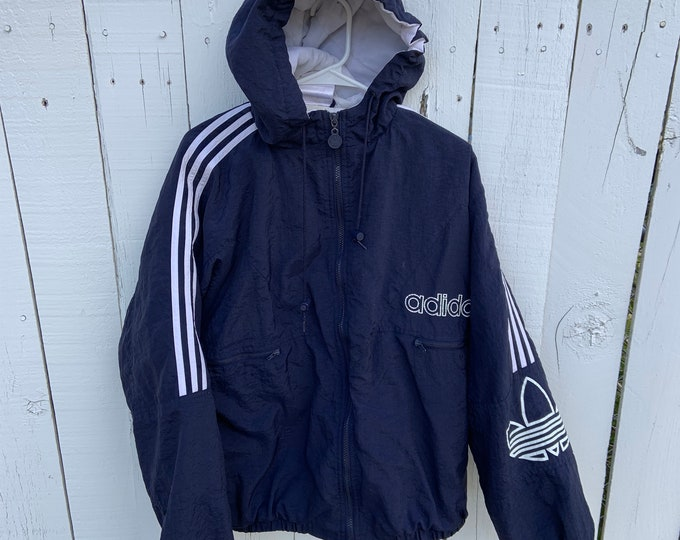 Vintage 1980s Adidas Jacket in decent shape. Free shipping in the USA