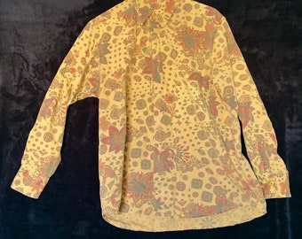 Vintage Genera Men's Collection 1990s button up shirt. Free Shipping