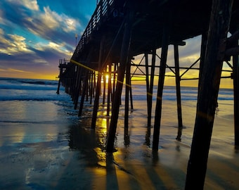 Oceanside Peir at Sunset Fine Art Photo Made to order