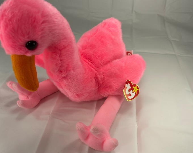 Large Pinky the flamingo Beanie Buddies Collection!  In great shape. Free Shipping