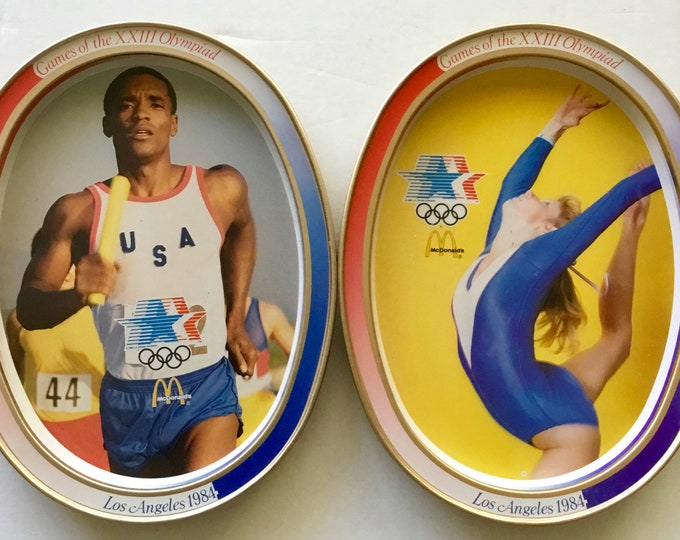 1984 Olympics commemorative trays set 2 of the original 4. Free Shipping