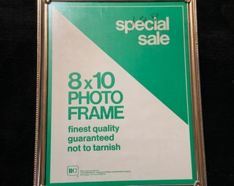 "Vintage Metal 8""x10"" Photo Frame"