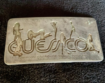 Vintage 1990s Guess Company Metal belt buckle. Free shipping