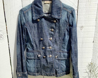 Vintage Donna Karan DKNY New York double breasted jean jacket. Rare and cool. Free shipping
