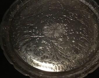 """Vintage Depression Era 13.5"""" Glass Serving Platter"""
