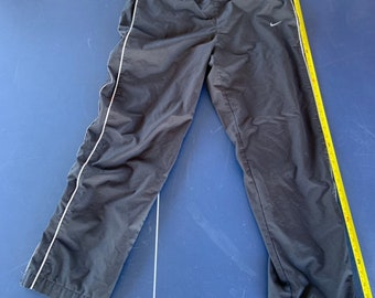 Vintage Nike gray label warm track pants size medium with embroidered swoosh. Free Shipping