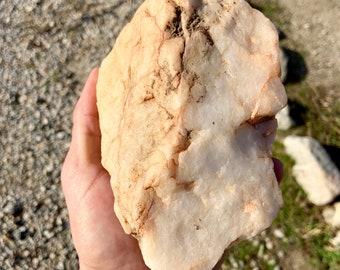 Medium piece of quartz crystal rock. Yellow crystal. Free Priority Mail Shipping
