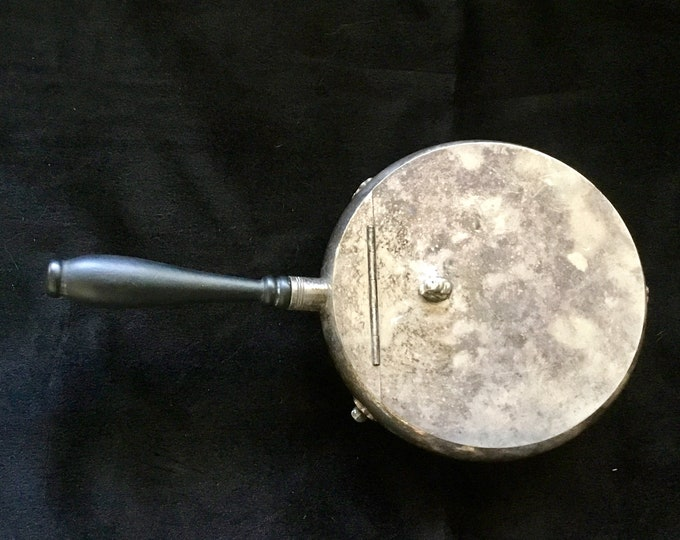 Vintage ONEIDA 1930s Silversmiths Footed Silent Butler Crumb Catcher, Coat of Arms FREE Shipping
