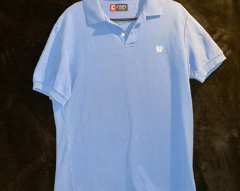 Vintage 1990s Chaps Polo Shirt. Blue in adult Medium. Free Shipping