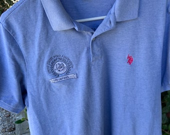 U.S. Polo Association USPS Umpire's Blue polo shirt in good condition size Large  Free Shipping