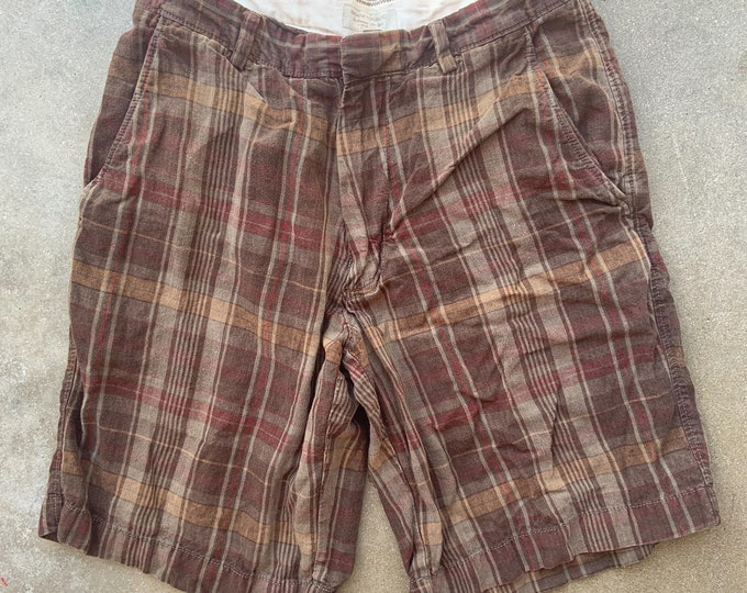 """Men's Banana Republic Linen Shorts. Cool, soft and comfortable. Size 31"""" Free Priority Mail Shipping in the USA"""