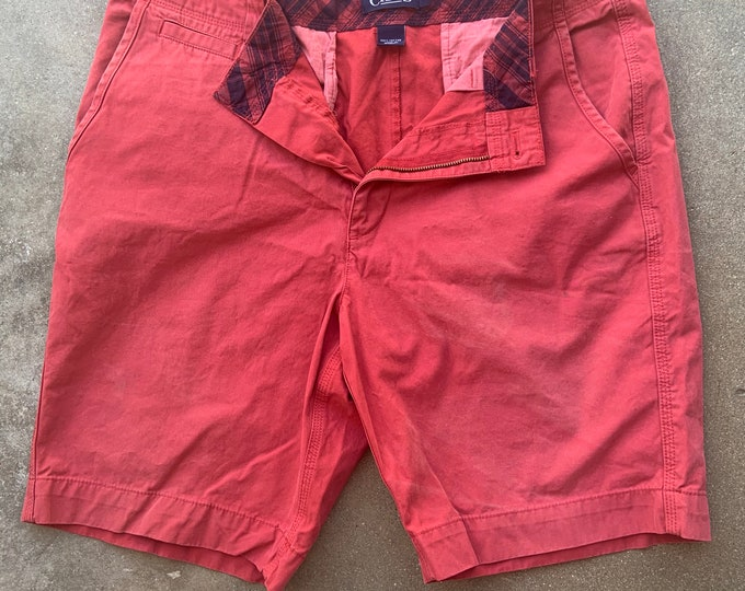Men's Vintage Chaps shorts, Faded Red. Free Shipping