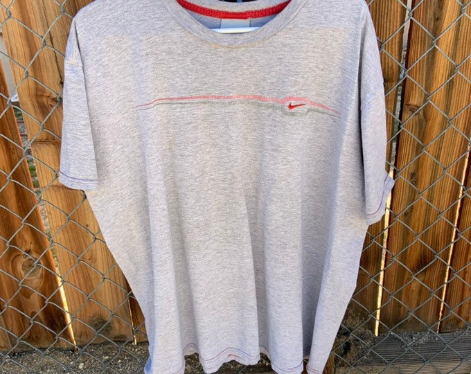 Vintage Nike gray label xxl t shirt with embroidered swoosh. Free Shipping