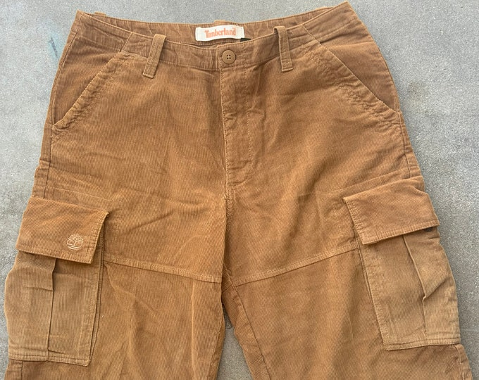 Men's Timberland Cut Off Corduroy Jeans. Very cool soft and comfortable. Size 34 x 13 Free Priority Mail Shipping in the USA