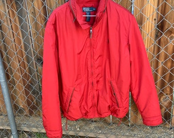 Vintage Polo by Ralph Lauren red puffy mountain ski jacket super warm.