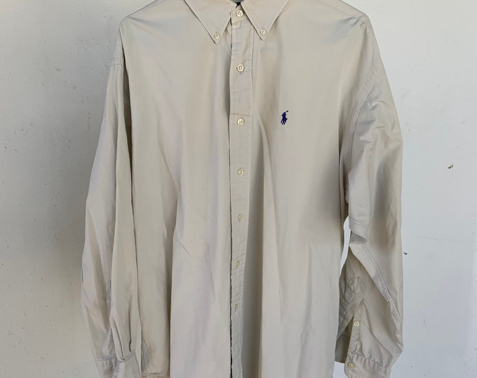 Vintage Ralph Lauren Large  Oxford Blake dress shirt. Great vintage condition includes Free Shipping