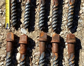 Railroad Spike Screws wholesale bulk lot of 10 heavy unique vintage heavy duty steel screws. Free Priority Mail Shipping