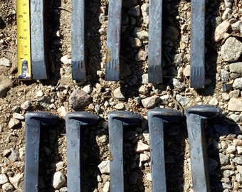 Lot of 10 New unused Railroad Spikes. Great for diy projects. Free shipping