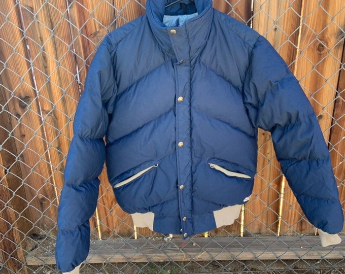 Vintage The North Face down puffer jacket. With brown label.  Free shipping
