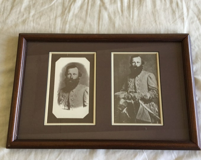 Vintage reprints of 1863 Confederate General Jen Stuart. Printed and framed by J.B. Lien York Pa. Free shipping