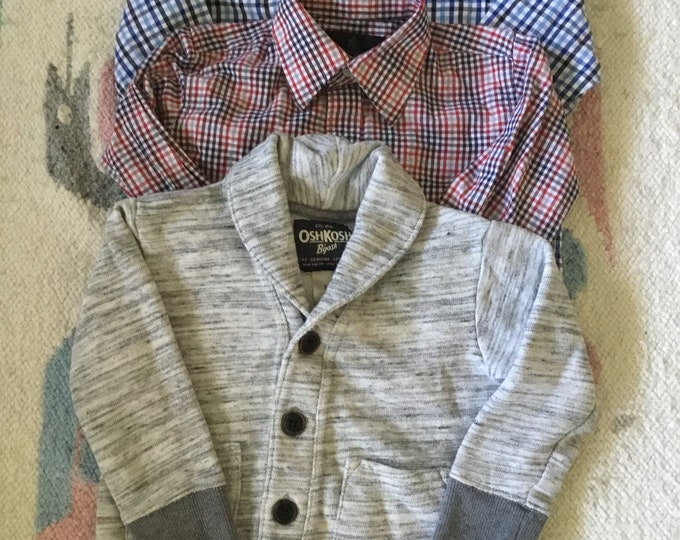 Toddler vintage clothes package deal 2 button downs and a sweat shirt size 3t. Free shipping