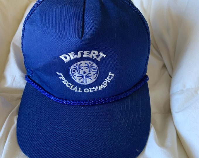 Vintage 1980s Desert Special Olympics snap back truckers hat. Free shipping