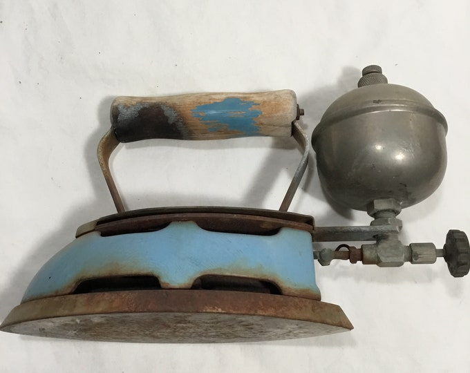 Vintage classic gas powered Coleman iron. Collectible clothing iron. Free shipping