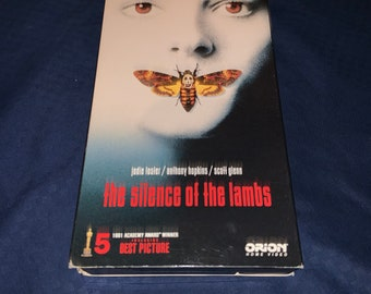 The Silence of the Lambs 1991 Vintage VHS Tape of the Classic movie The Silence of the Lambs. Free Priority Mail Shipping