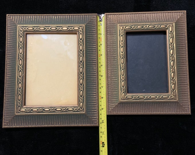 Set of Vintage Photo Frames with Ribbed Accents
