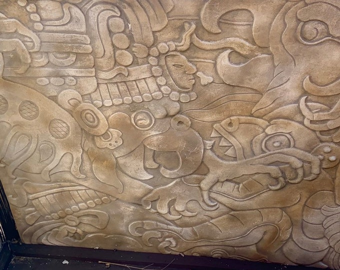 Custom made Mayan Wall Art! Available in various materials! Unique extra large art panels