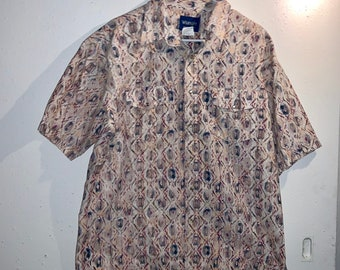 Vintage single stitch Pearl snap Wrangler XL Western Shirt Great Condition. Free Shipping