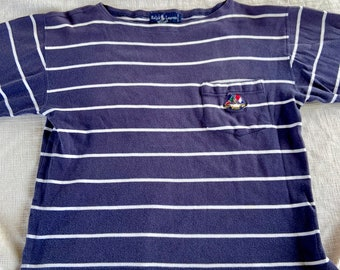 Vintage 1988 Ralph Lauren women's crop top shirt in size large. Good Condition. Free shipping