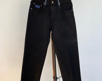 Vintage 1990s Pepe black Jeans size 34. Free shipping