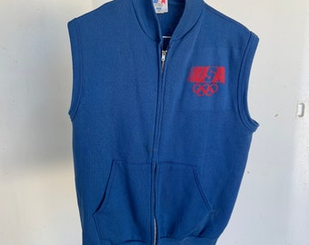 Levis Brand vintage 1980s sleeveless USA Olympics sweat shirt. Free shipping