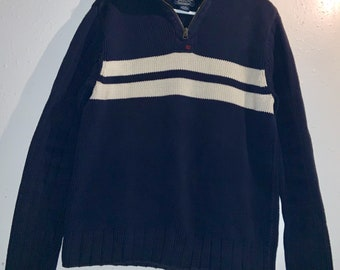 Vintage Ralph Lauren Polo Jeans Mock Turtleneck Zip up sweater in Medium. Excellent Condition. Free shipping