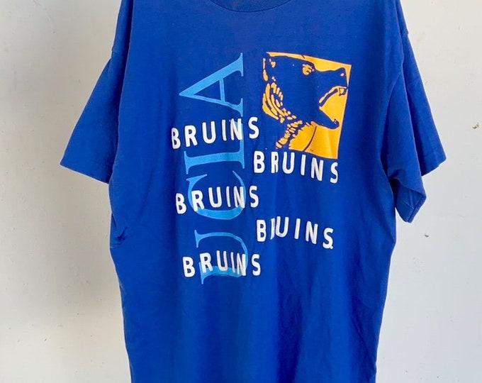 Vintage 1980s UCLA Bruins single stitch T-shirt. Puffy screen print. Free shipping