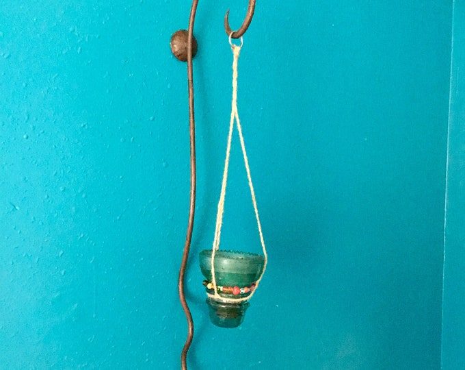 Super cool metal wall sconce, shabby chic perfect as is or to hang items from. Includes Free Shipping