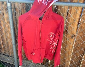 Vintage 1990s girls Hard Rock Cafe zip up hoodie. Free shipping