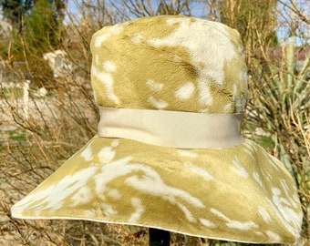 Vintage mid century Styled by Coralie handmade hat. Super cool shabby chic. Free shipping