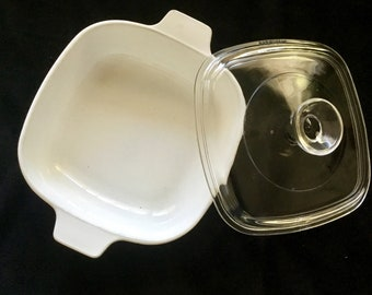 Corning Ware casserole dish with original lid. 6.5 by 6.5 inches FREE Sipping