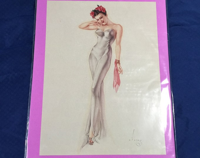 Vintage 1960s pin up girl poster prints. Ready to frame. Free shipping.