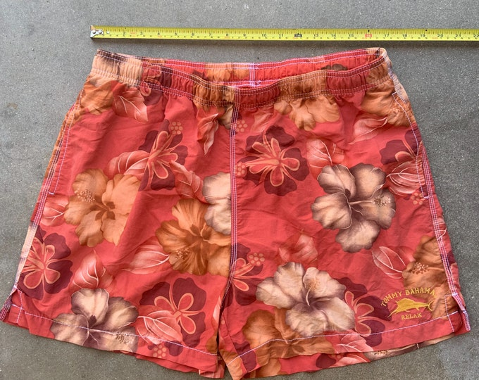 Men's Vintage Tommy Bahama Swim shorts in great shape. Free Shipping
