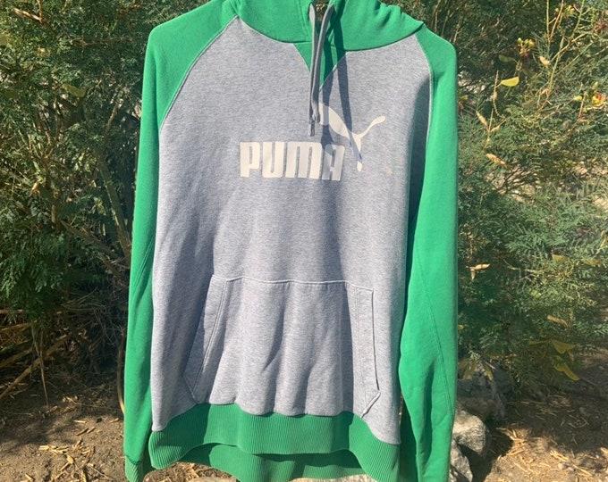 Vintage Puma 1990s hoody sweat shirt FREE Shipping