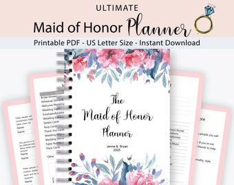 Maid of honor planner   Etsy