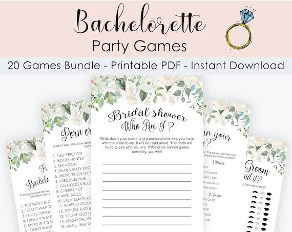 20 Floral Bridal Shower Games Bundle Download /& Print Bridal Shower Games Printable Hen Party Game Bundle Bachelorette Party Bundle