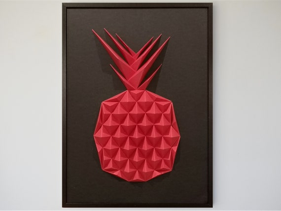 Wall Art Origami Pineapple