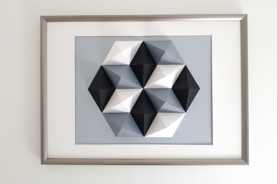 Wall Art Origami Hexagon