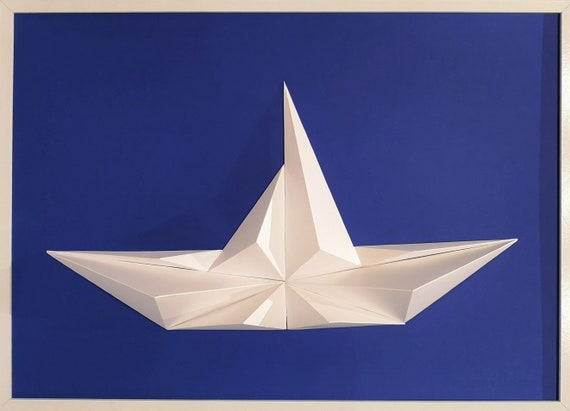 Wall Art Origami Boat